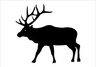 Elk clip art 2