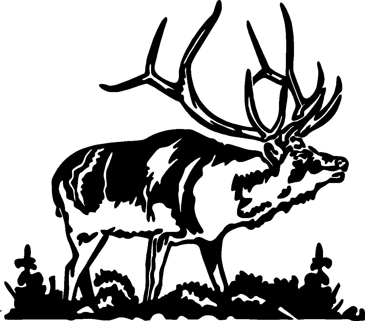 Elk silhouette images dromffm top clipart