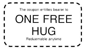 Hug coupon clipart