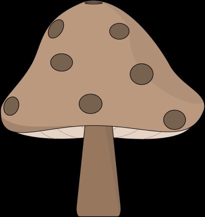Brown spotted mushroom clip art brown spotted mushroom image
