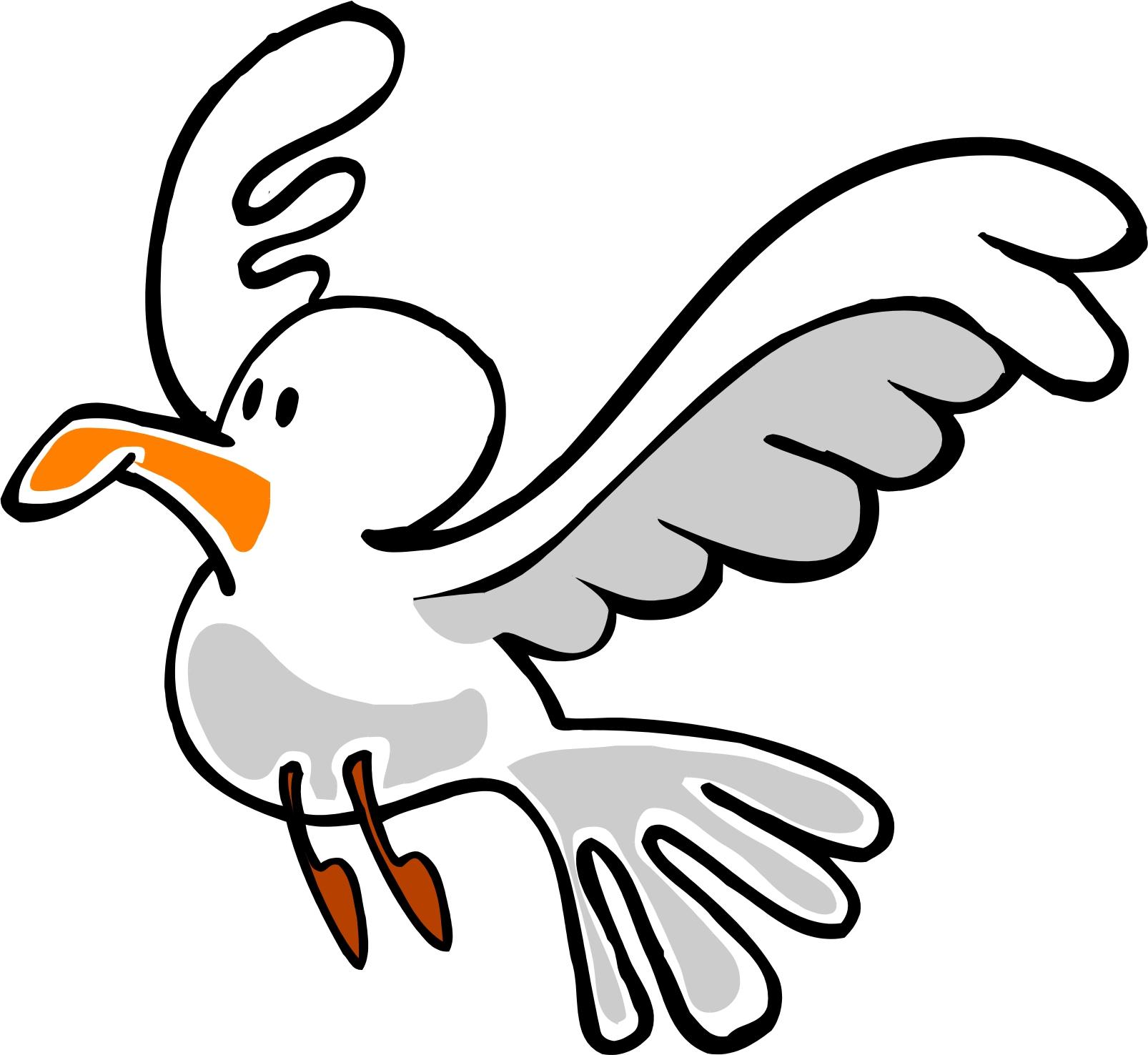 Cartoon seagull clipart