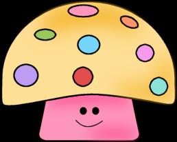 Colorful mushroom clip art colorful mushroom image