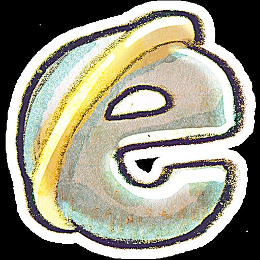Crayon internet explorer icon clipart image iconbug