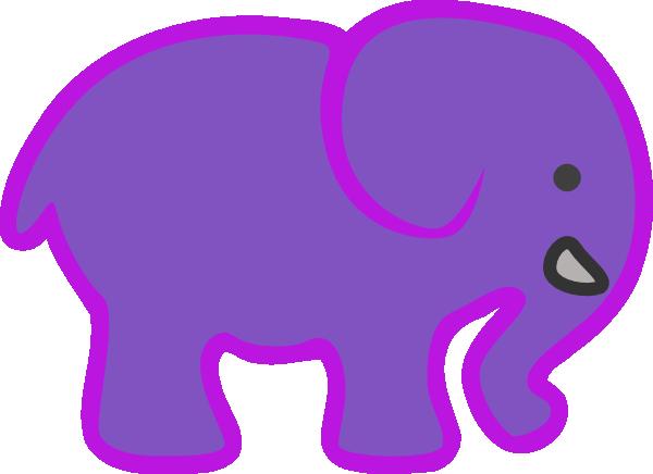 Cute elephant baby elephant stencil clipart