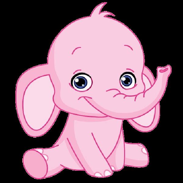Cute elephant pink elephant clipart