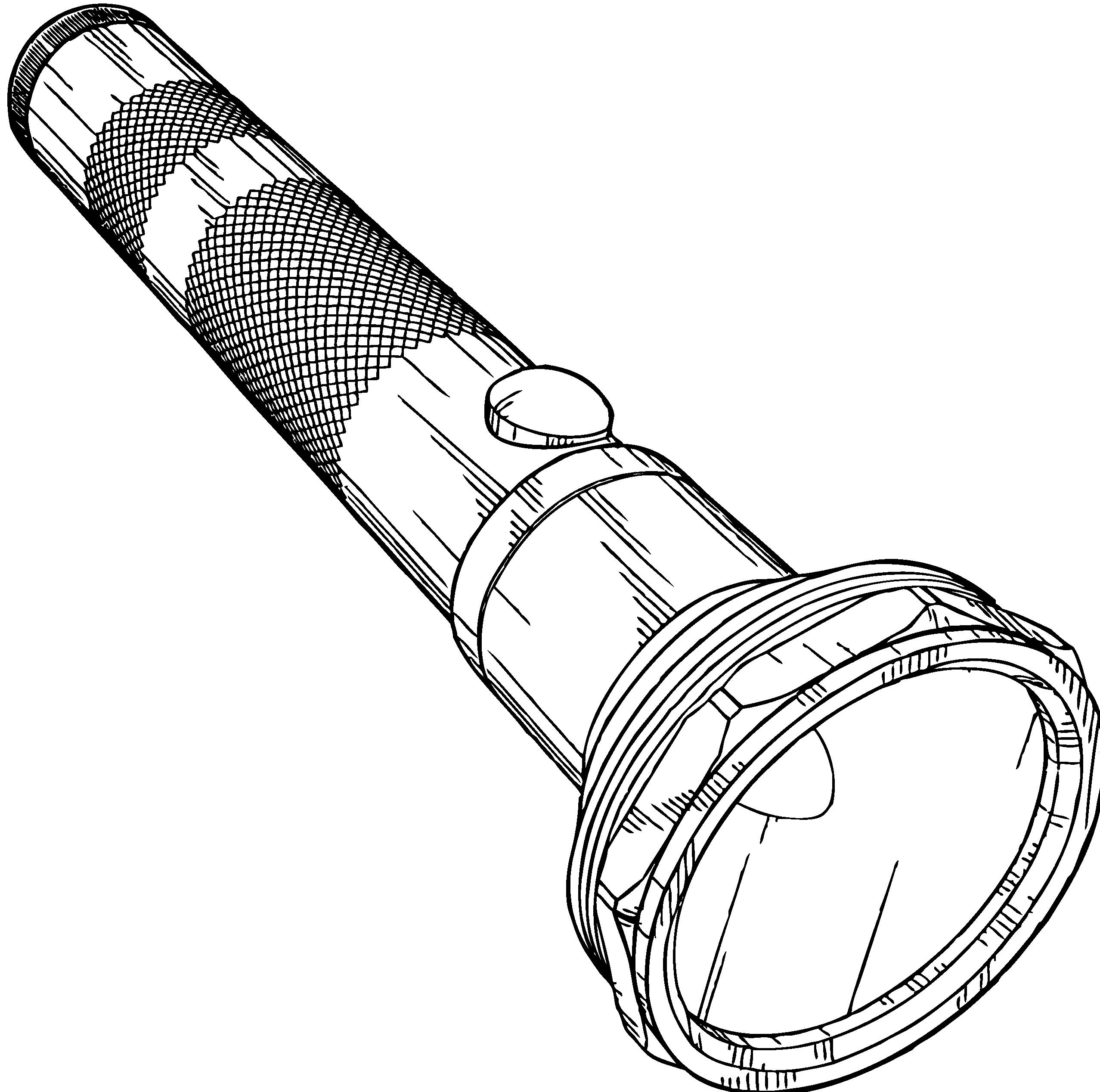 Flashlight clip art 2