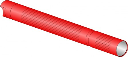 Flashlight clip art free vector in open office drawing svg svg 2