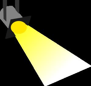 Flashlight disco light yellow no outline clip art at clker vector clip
