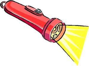 Flashlight merry  clip art