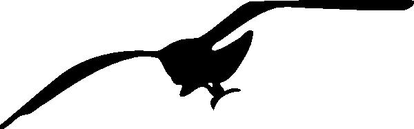 Seagull contour clip art at clker vector clip art