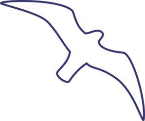 Seagull outline line drawing clip art bird art