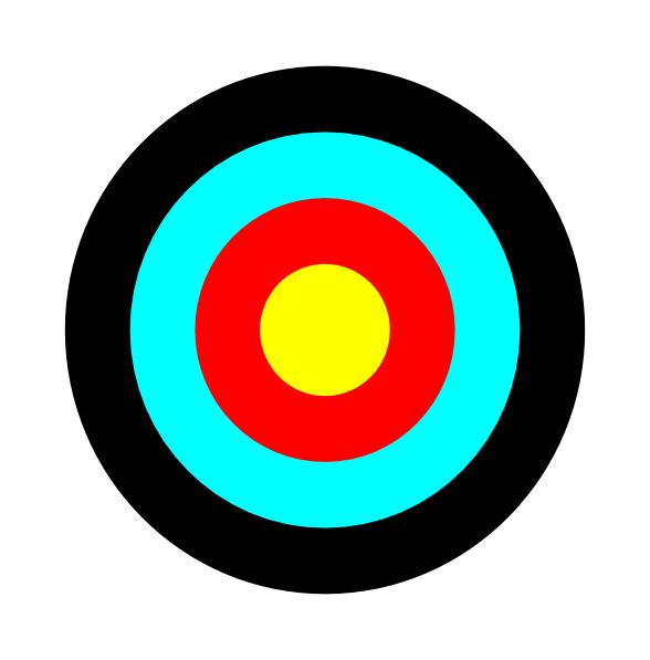 Bullseye round target clip art at clker vector clip art