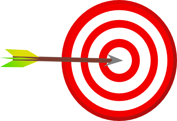 Bullseye target arrow clip art at clker vector clip art