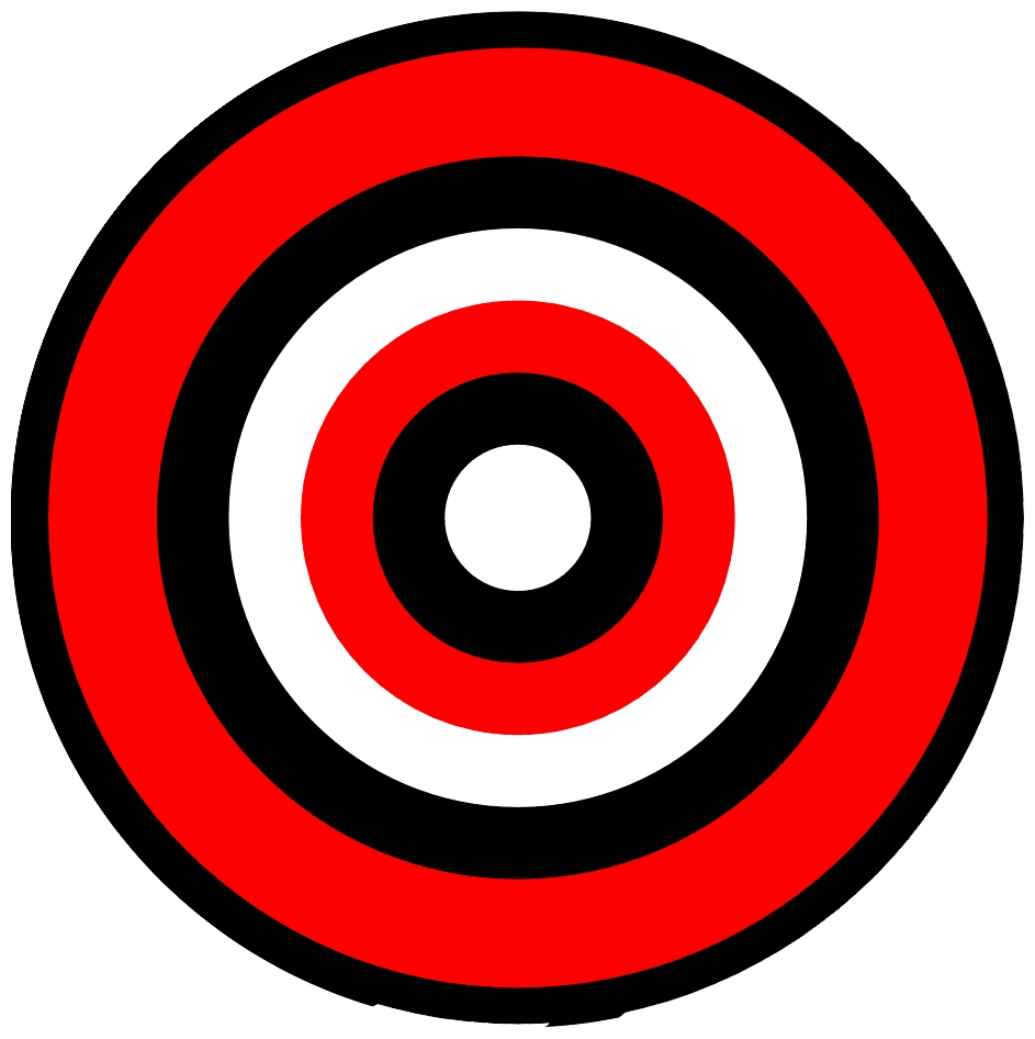 image relating to Printable Bullseye identified as Bullseye ambitions printable clipart picture #30287