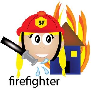 Clip art fireman 2