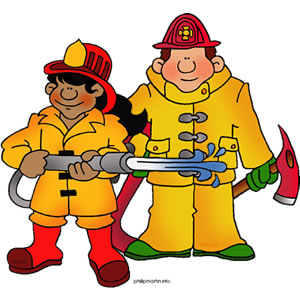 Firefighter fireman clip art clipart clipartcow 2