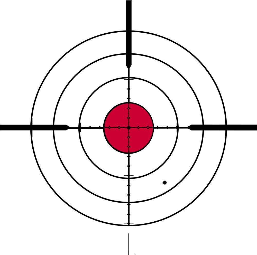 Printable bullseye target clipart