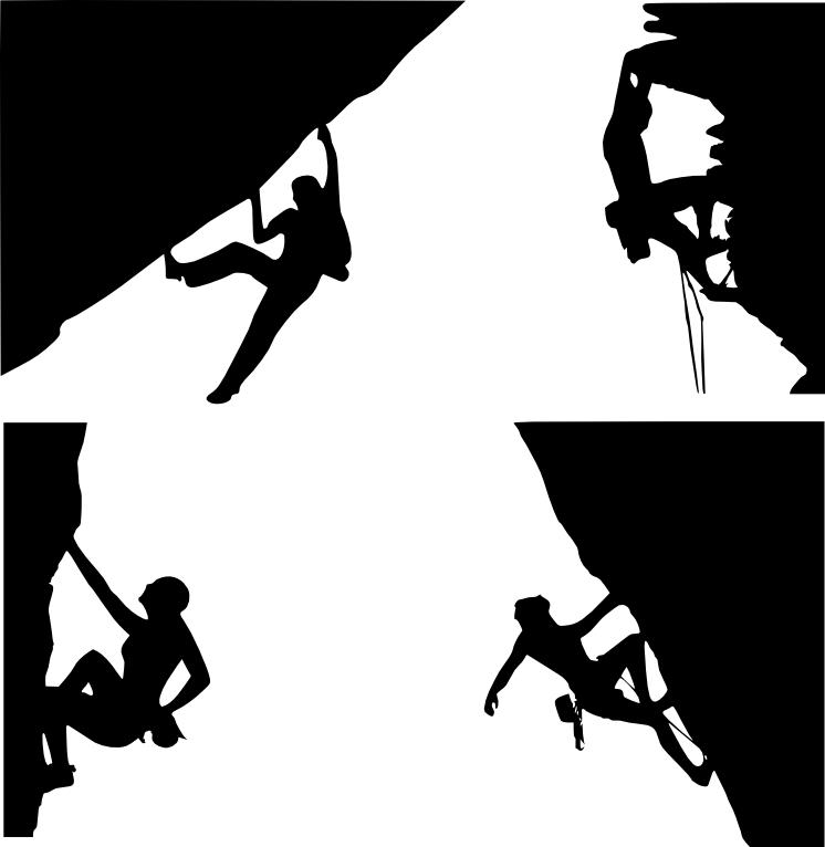 Rock climbing climbing clip art download