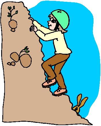 Rock climbing climbing clip art