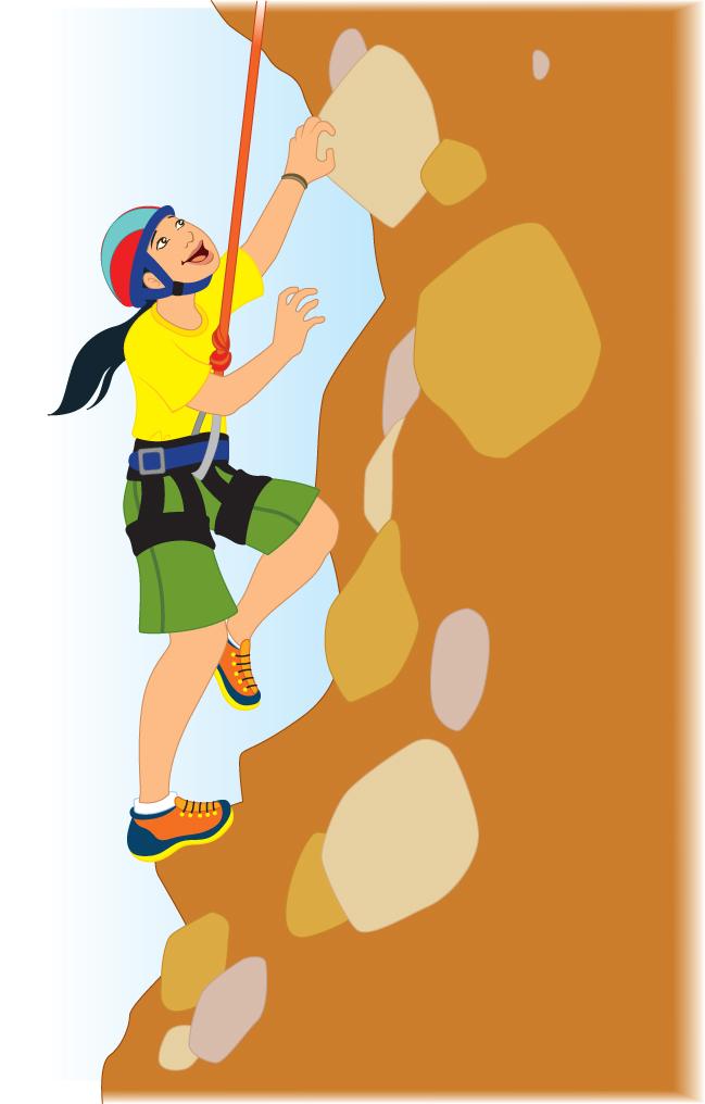 Rock climbing rock climber clipart