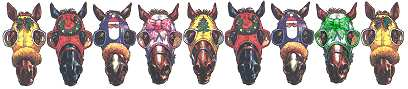 Christmas horse racing clip art