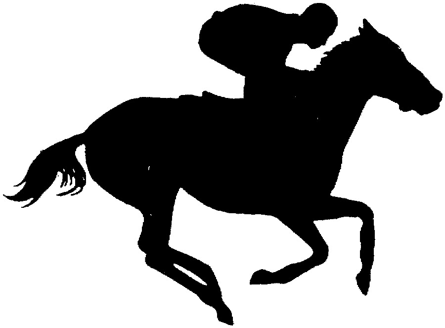 Horse racing clipart free clipart images