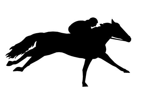 Horse racing deron clipart