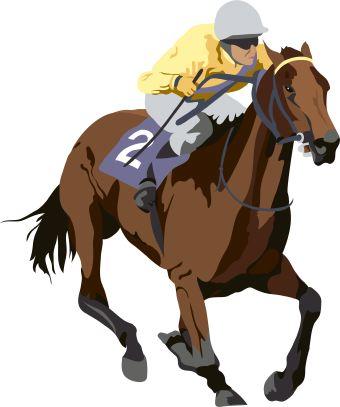 Horse racing horse clip art
