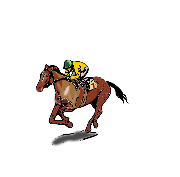 Horse racing race horse clipart