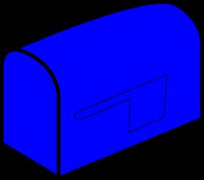 Mailbox blue mail clip art