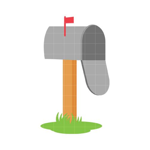 Mailbox mail clip art quarter clipart