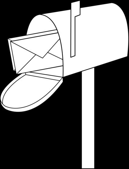 Mailbox mail line art free clip art