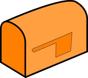 Mailbox orange mail clip art at clker vector clip art