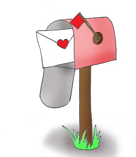 Mailbox valentine mail clipart