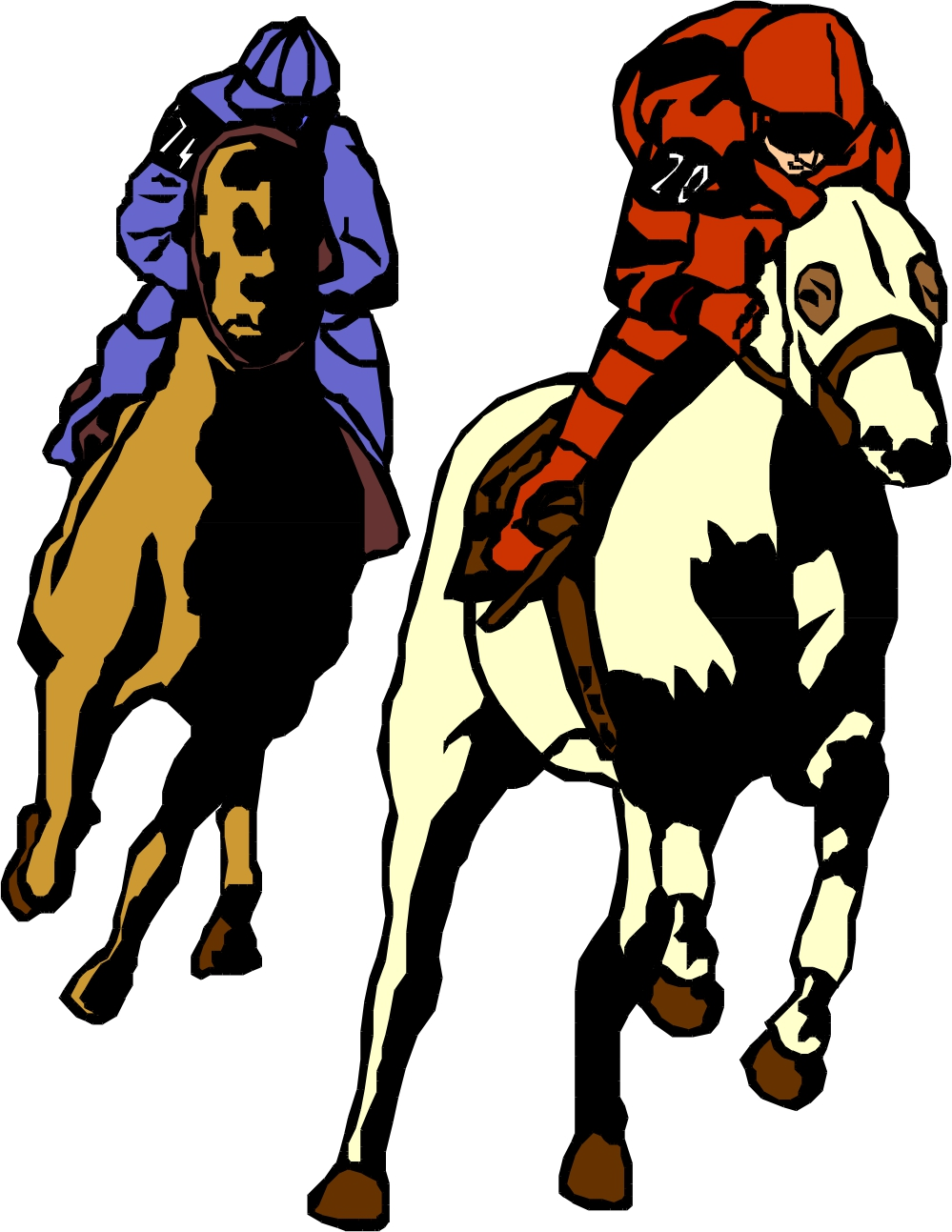 Race horse racing clipart