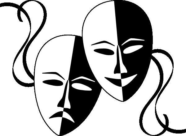 Theater theatre masks clip art at clker vector clip art 2