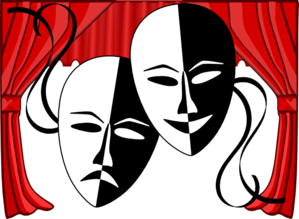 Theater theatre masks clip art at clker vector clip art