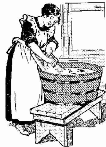Vintage laundry clipart