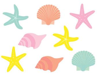Clip art seashells