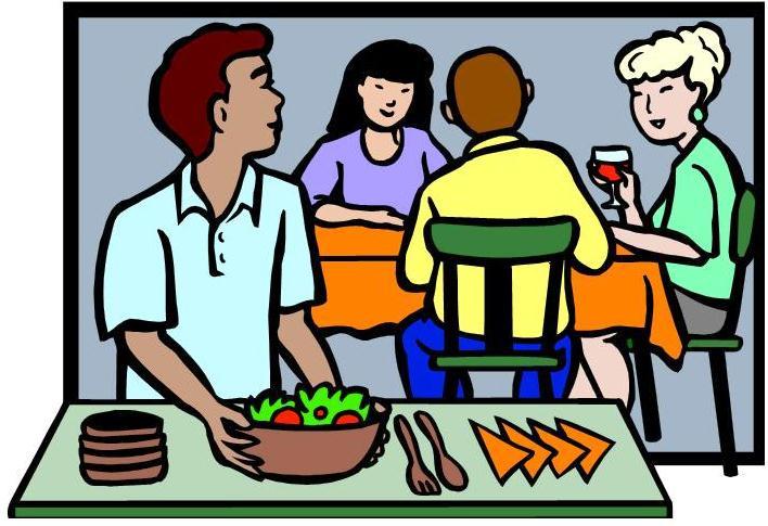 Dinner clip art 3