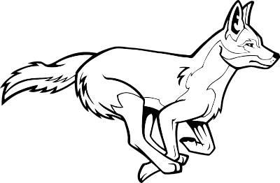 Coyote clip art 2