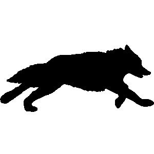 Coyote silhouette clip art free clipart