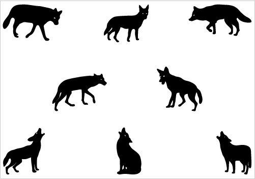 Coyote silhouette vector clip art silhouette clip art