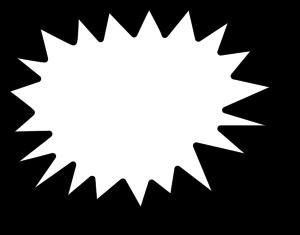 Explosion callout star vector clip art
