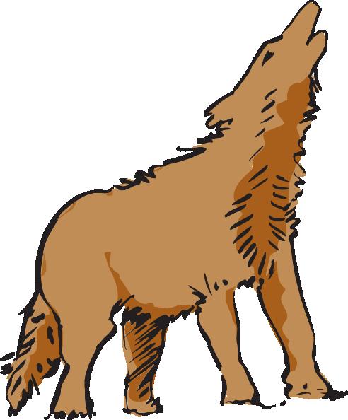 Howling coyote clip art vector graphics download vector clip