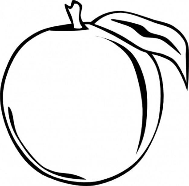 Peach clip art 2