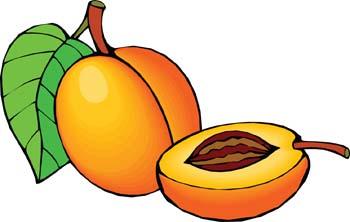 Peach clipart