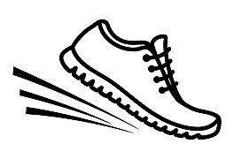 Clip art running shoe icon