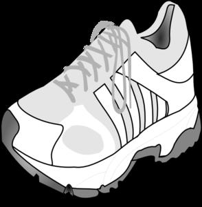 Running shoe clip art at vector clip art image