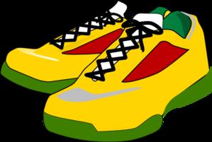 Running shoes clip art at clker vector clip art 2